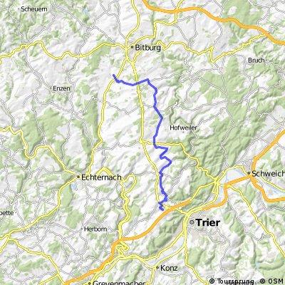 Vom Trierweiler Rennen nach Messerich ohne B51
