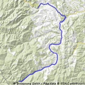 Zabala - Tulnici (Tag 6 - Radtour 2008)