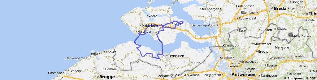Westerscheldetunnel - Breskens - Vlissingen - 110 km