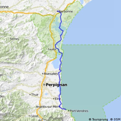 colliure to Narbonne. Eurovelo 8, part 6