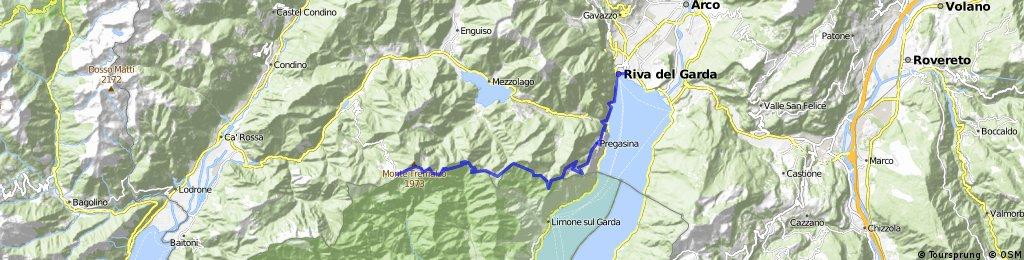 Tremalzo, abwärts über Passo Nota, Guil, Roccheta, Pregasina