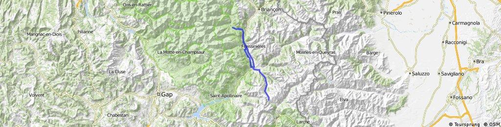 Col de Vars vanuit Puy St Vincent