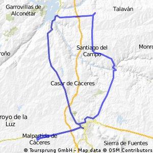 Malpartida de Cáceres y los 4 lugares