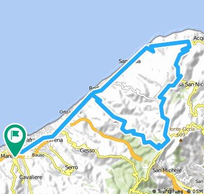 Rometta Marea - Salice - Urni - Castanea delle furie - Massa San Giorgio - Spartà - Rometta Marea