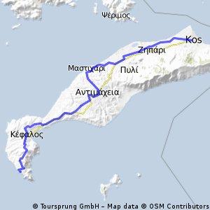 διασχιση του νησιου κατα μηκος πολη-παραλια παραδεισος 55χλμ