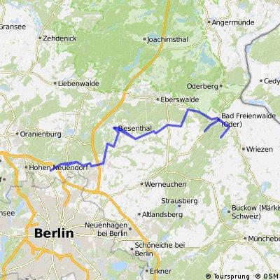 Mühlenbeck-Falkenberg-Bad Freienwalde-Sonnenburg-Bad Freienwalde-Falkenberg-Mühlenbeck
