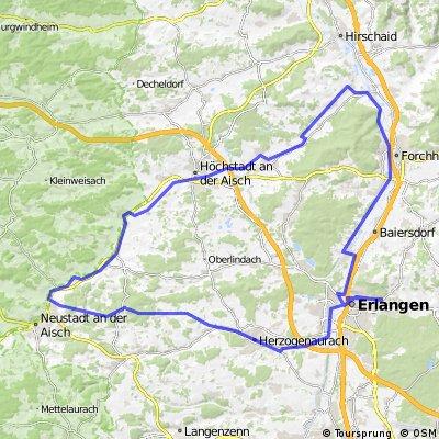 Rundfahrt  Erlangen, Diespeck, Neuses u. zurück