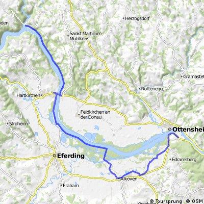 Donauradwanderung mit Kurzmarsch