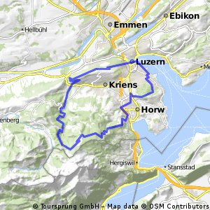 hergiswil frgmntegg kriens Bikemap Your bike routes
