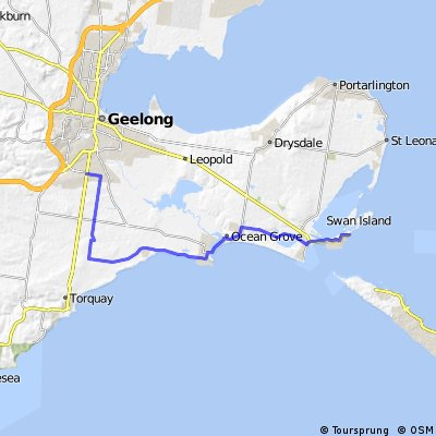 Grovedale to Queenscliff - 45km