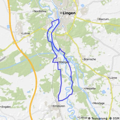 Emsbüren - Lingen - Elbergen - Emsbüren