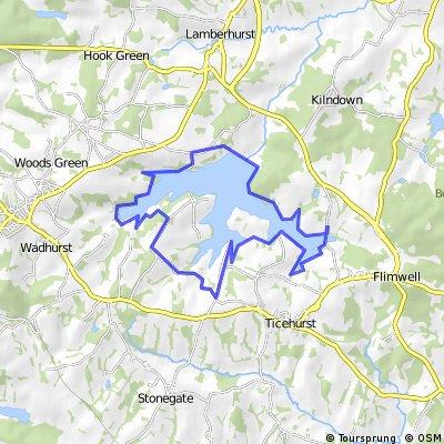 Bewl Water Map Bewl Water circuit | Bikemap   Your bike routes