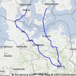 Odense - Køge, via Berlin