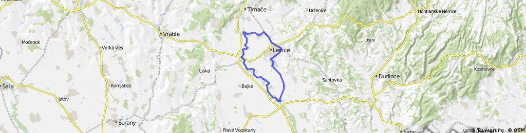LV - Jur nad Hronom - MTB cyklotrasa - Starý Tekov - LV