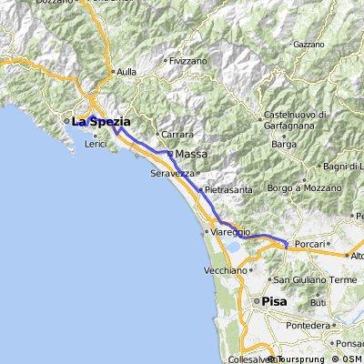 Training ride from La Spezia to Lucca