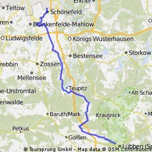 Rückweg vom Spreewaldmarathon