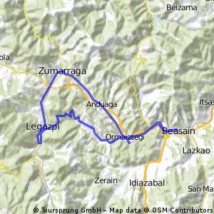 Beasain-Ormaiztegui-Atagoiti-Legazpia-Zumarraga-Beasain