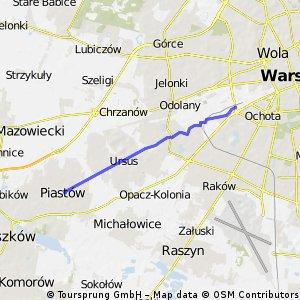 sympatyczna trasa Piastów - Warszawa Zachodnia