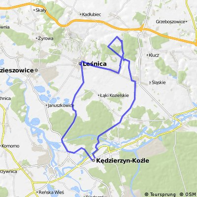 [GPS] Kędzierzyn, Czrnocin, Lichynia, Leśnica, Kędzierzyn..