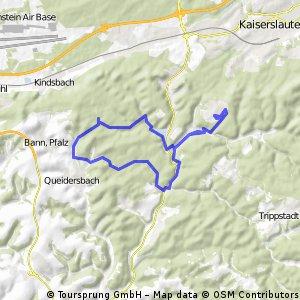 Dansenberg-qeidersbach über gelterswoog+walkmühltal