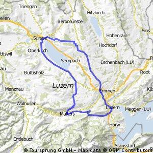Kriens - Sursee - Schenkon - Hildisrieden - Kriens