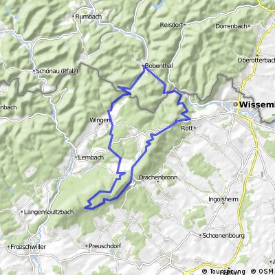 Bobenthal  - Petit Wingen - Soultzerkopf - Co du Pfaffenschlick - Col du Pigeonnier und zurück