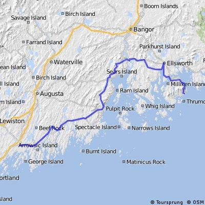 Brunswick to Acadia National Park