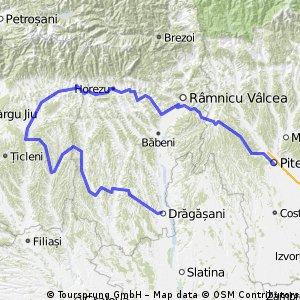 Pitesti - Valcea - Targu Carbunesti - Dragasani