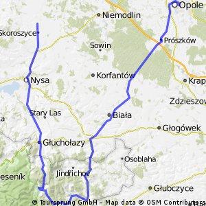 Chróścina - Opole, trasa przez Czechy