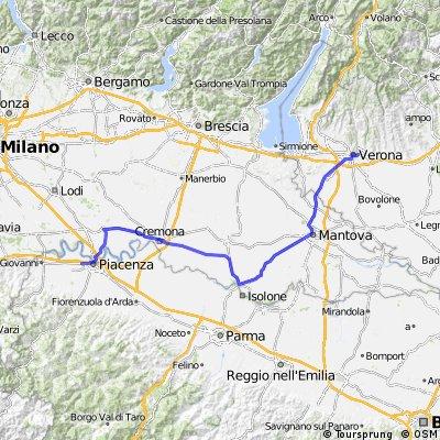Italie : Verona - Piacenza