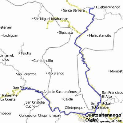 San Pedro Sacatepequez Xela Huehuetenango