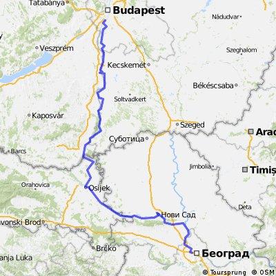 Danube bike trail 4 (Budapest - Belgrad) 12-16May2012