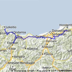 ETAPA Irún - Leagi 109,1km.