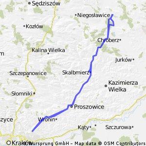 Pińczów - Tabliczka Kraków 131 km  Mój rekord popołudnia
