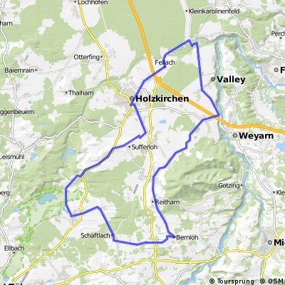 50km Kreuzstr. Schaftlach Kirchsee CLONED FROM ROUTE 266077