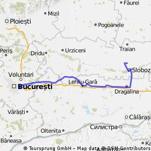 Cu Bicicleta La Mare (ziua 1) Bucuresti - Amara