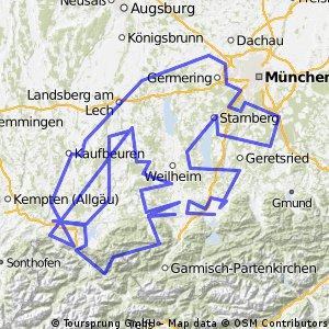 Planseerunde durchs Allgäu und die Alpen CLONED FROM ROUTE 967219