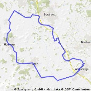 Rundroute über Horstmar, Borghorst