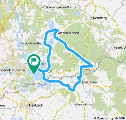 """Permanente RTF """"Heide Tour"""" (71 km) des ESV Bitterfeld e.V."""