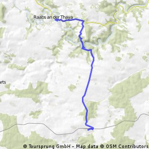 Vom Bahnhof Irnfritz über Kolmitz nach Raabs an der Thaya