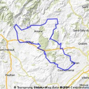 23 septembre 2012 - 29 ème RANDONNÉE du MUC Cyclo Montpellier - Grand parcours 90 km