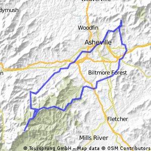 Longer version of a Asheville 151 route