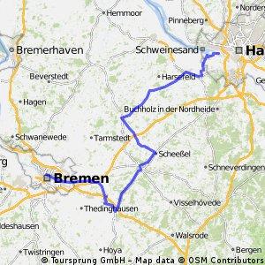 Hamburg -> Bremen