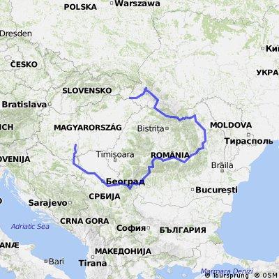 Záhony-Munkács- Slatina-Szucseva-Brassó-Petrozsénsy-Belgrád-Eszék-Mözs