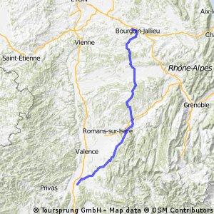 Dag 7a Bourgion Loriol 133km.gpx