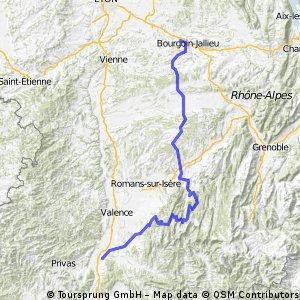 Dag 7a Bourgion Loriol 179km.gpx