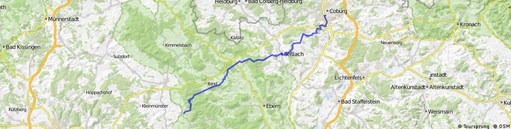 Route entlang des Amtsbotenwegs