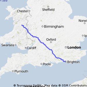 Llanwnog to Brighton