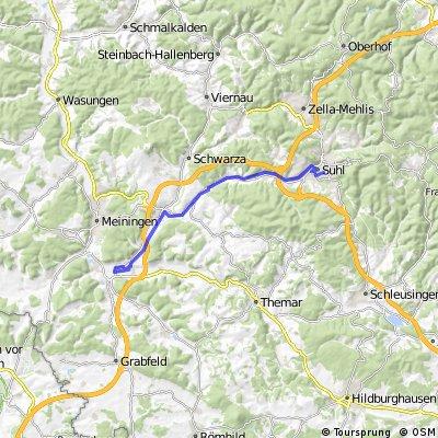 Flachetappe Suhl - Obermaßfeld