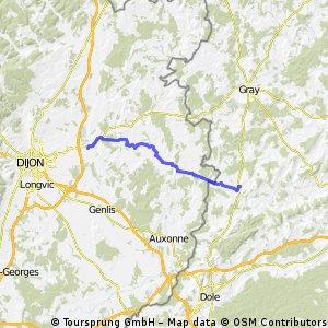 2. Etappe: Pesmes - Arc-sur-Tille
